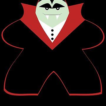 Halloween Funny Vampire Board Game Meeple  by shadowisper
