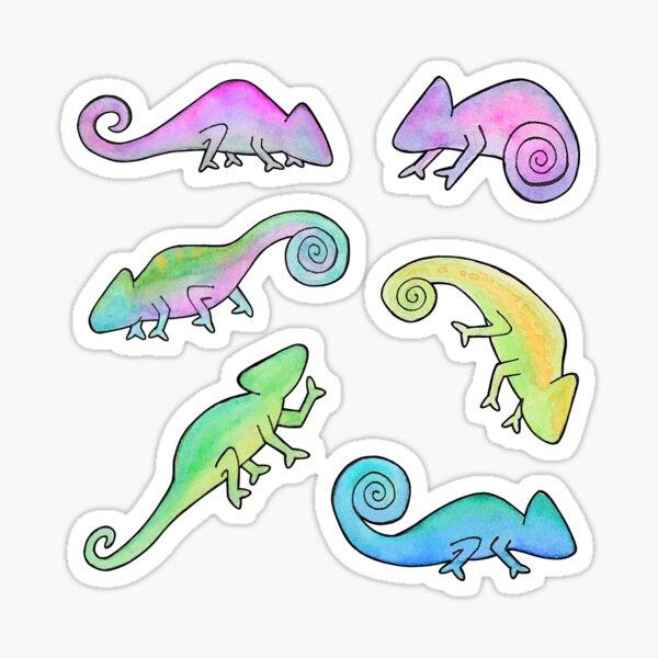 Colorful Chameleons  Sticker