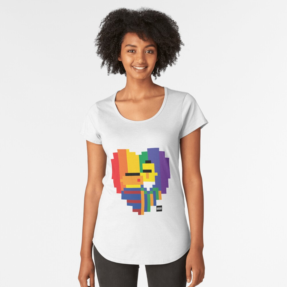 Loving Couple Women's Premium T-Shirt Front