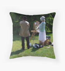 Artist and Admirer Throw Pillow