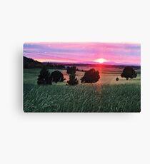 Blood Sunset Canvas Print