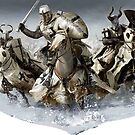 Teutonic Knights crusading in Winter by edsimoneit