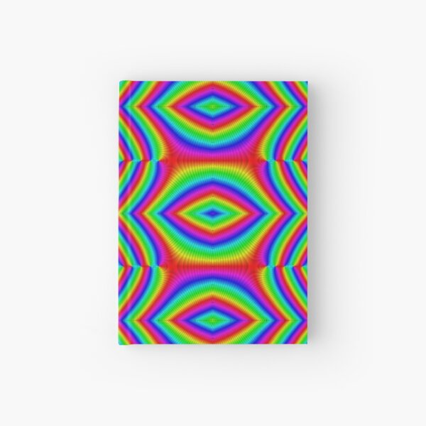 #abstract, #pattern, #green, #colorful, #illustration, #wallpaper, #seamless, #design, #blue, #psychedelic, #art, #graphic, #fractal, #red, #texture Hardcover Journal