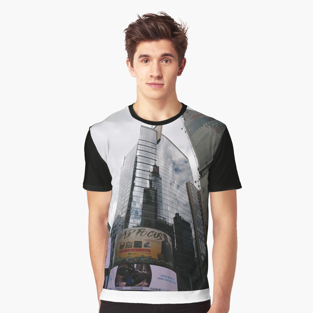 #towerblock #Highrisebuilding #tower #block #Highrise #building #abstract #pattern #green #colorful #illustration #wallpaper #seamless #design #blue #psychedelic #art #graphic #fractal #red #texture Graphic T-Shirt Front