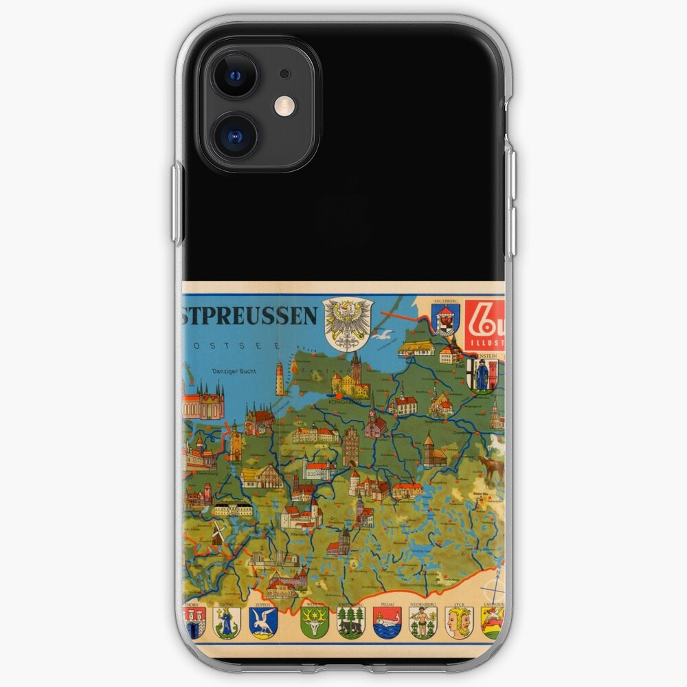 Pictorial map of East and West Prussia iPhone Case & Cover