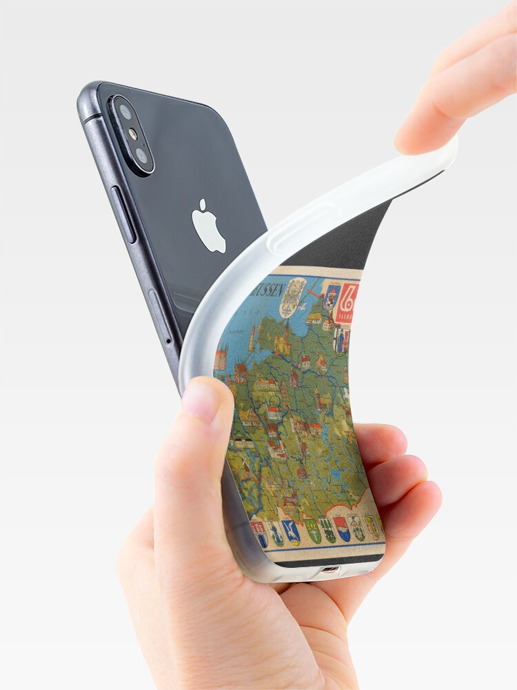 Alternate view of Pictorial map of East and West Prussia iPhone Case & Cover