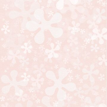 Flower Power Shower in pale pink and white by kierkegaard