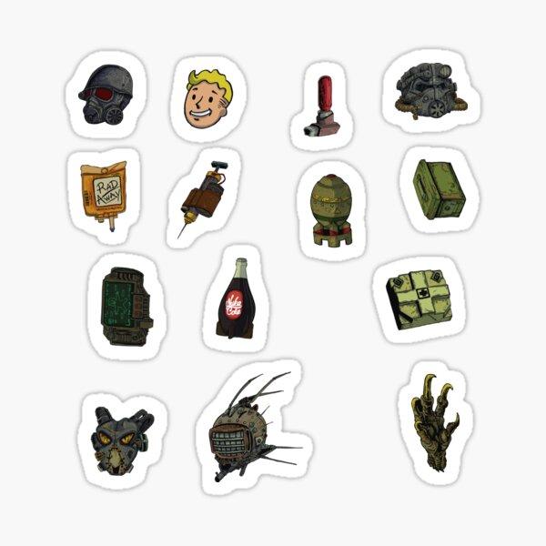 The Radioactive Future rpg videogame adventure! sticker pack Sticker
