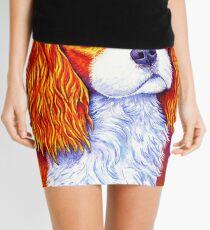 Colorful Cavalier King Charles Spaniel Dog Mini Skirt