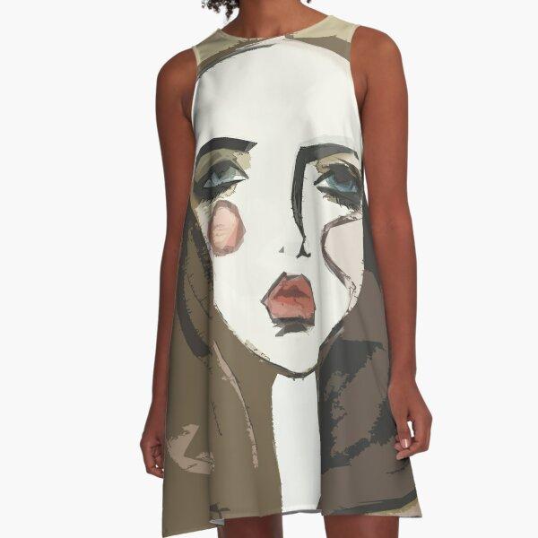 Ilustración de moda Vestido acampanado