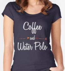 Coffee and Water Polo T shirt Hoodie Women's Fitted Scoop T-Shirt