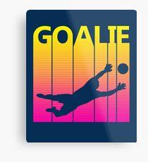 Retro 1980s Soccer Goalie Metal Print