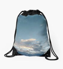 #Evening #sky #clouds #cloud #blue #nature #weather #white #cloudscape #air #heaven #light #cloudy #summer #sun #day #atmosphere #landscape #backgrounds #beautiful #outdoors #skies #sunlight #high  Drawstring Bag