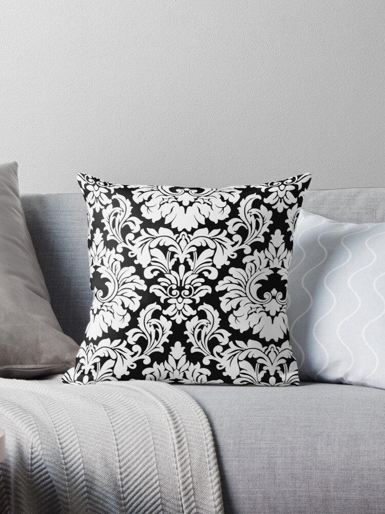 French Provincial Fleur De Lis in classic Black + White by Tee Brain Creative