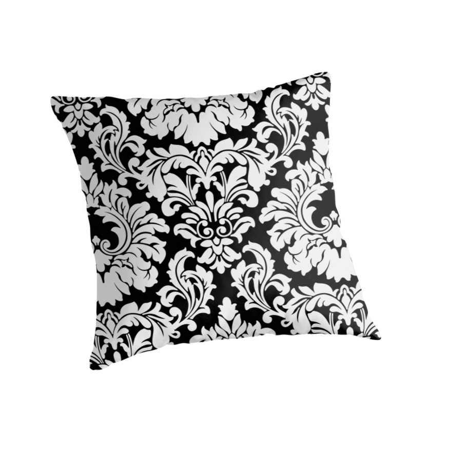 French Provincial Fleur De Lis in classic Black + White by Tee Brain Creative