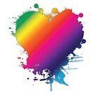 Queer Splatter Heart by CaitGreer