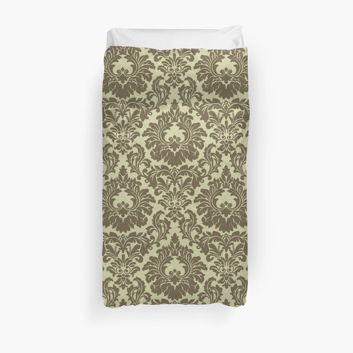 French Provincal Fleur De Lis in Olive by Tee Brain Creative