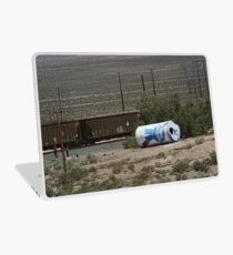 Giant Beer Can in Nevada Desert near Train Tracks Laptop Skin