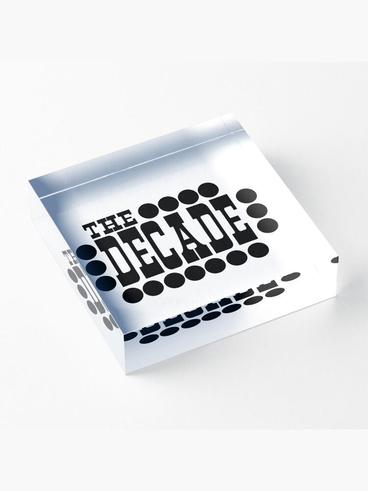 Alternate view of The Decade Acrylic Block