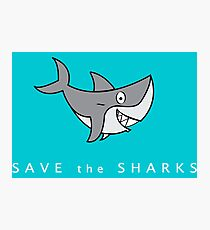 Save The Shark Design Photographic Print