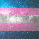 Trans Galaxy Flagge von Ash Tomb