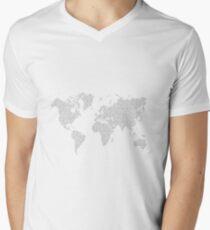 Digital Cartography Men's V-Neck T-Shirt