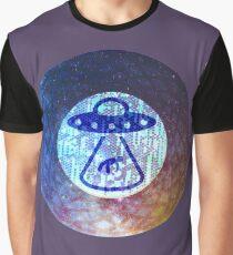 UFO Alien Abuduction Graphic Graphic T-Shirt