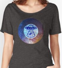 UFO Alien Abuduction Graphic Women's Relaxed Fit T-Shirt