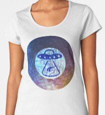 UFO Alien Abuduction Graphic Women's Premium T-Shirt