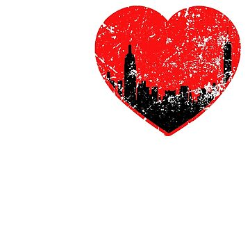 I Love NY Tshirt New York City State Tshirt  by worksaheart