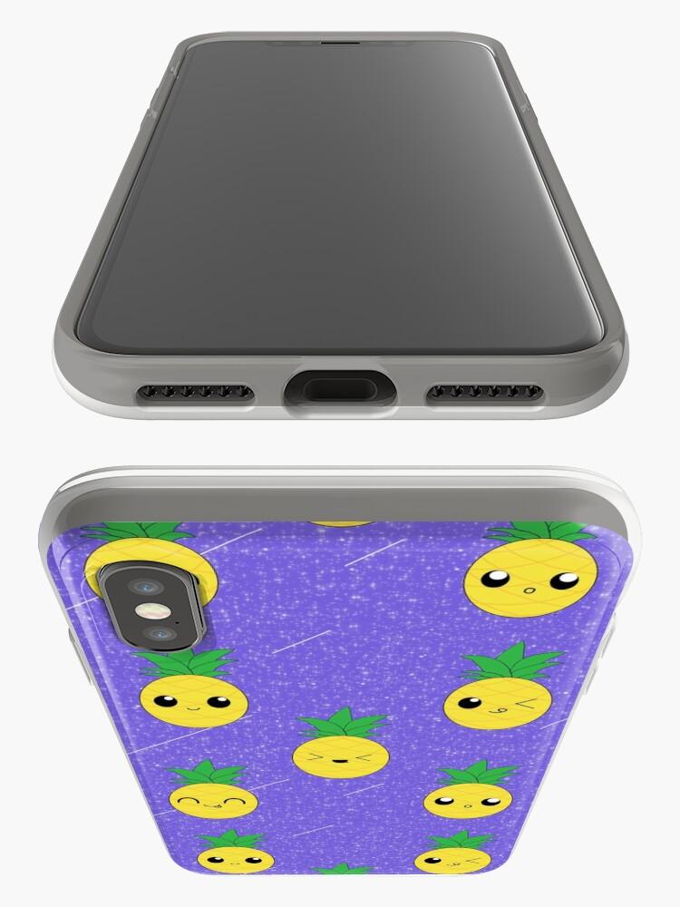Alternative Ansicht von Ananas-Galaxie-Muster iPhone-Hülle & Cover