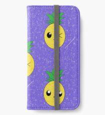 Ananas-Galaxie-Muster iPhone Flip-Case/Hülle/Klebefolie