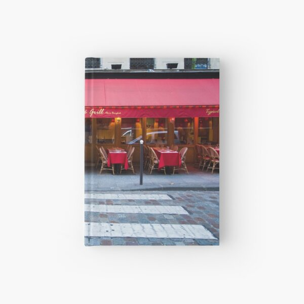 Parisian Cafe 5 Hardcover Journal