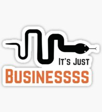 It's Just Business McCombs Snake  Sticker