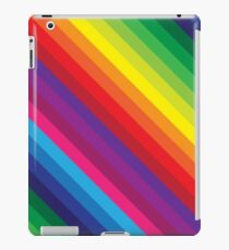 RAINBOW STRIPE bright bold colourful iPad Case/Skin