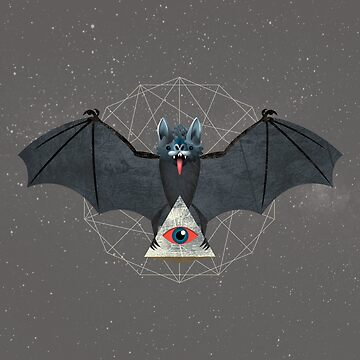 Vampire Bat with Pyarmid by JesseNickles