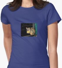 Brushtail Possum and Baby Women's Fitted T-Shirt