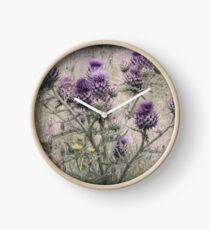 In a Thistle Field Clock