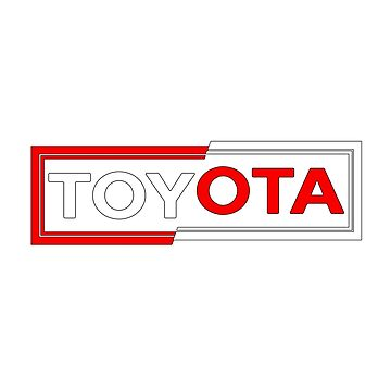 Toyota Split Sticker by roccoyou