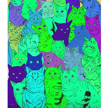 BEAUTIFUL GREEN CAT PATTERN - CATS! by MelanixStyles