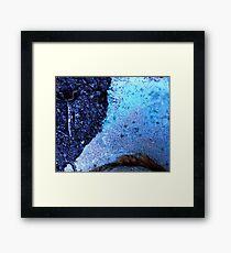 Blue on gravel Framed Print