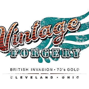 Vintage Forgery Light Grunge: American Rock Band from Cleveland by JWWright