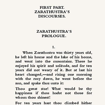 Thus Spoke Zarathustra Friedrich Nietzsche Page One by buythebook86