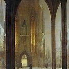 Ernst Oehme...Cathedral in Winter, 1821 by edsimoneit