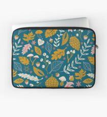 Fall Foliage in Gold + Blue Laptop Sleeve