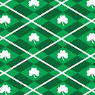 Luck of the Irish Shamrock Argyle by ArianaDagan