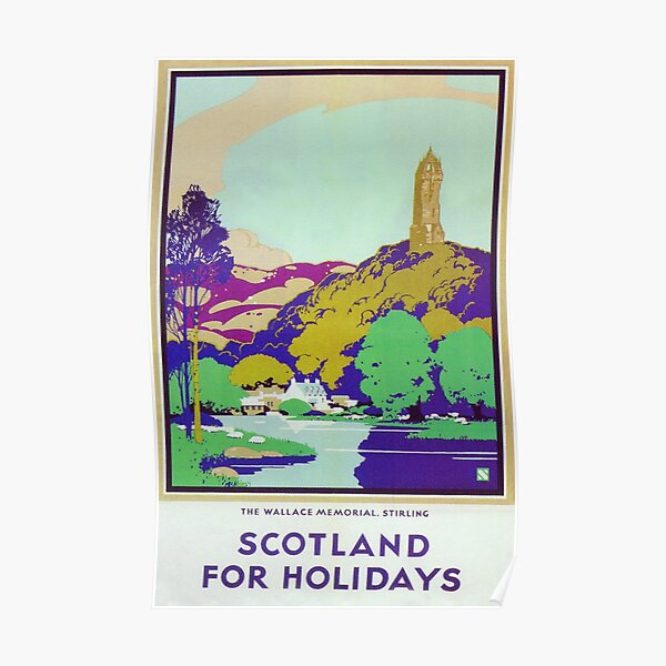 Scotland for the Holidays Vintage Travel Poster Poster