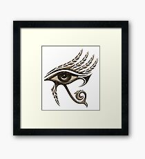 Eye of Horus , Symbol Wisdom & Truth, Protection Amulet Framed Print