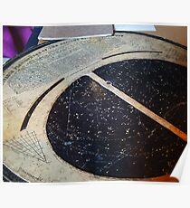 Alte alte Sternkarte Poster