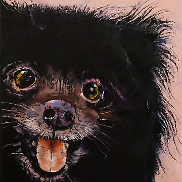 Black Pomeranian by michaelcreese
